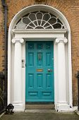 Original Turquoise Georgian Door