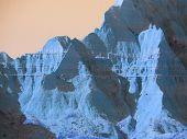 Stimmungen der Natur: Badlands in blau