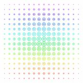 Drone Screw Icon Spectral Halftone Pattern. Vector Drone Screw Items Arranged Into Halftone Grid Wit poster