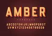 Amber Trendy Inline Vintage Display Font Design, Alphabet, Typeface, Letters And Numbers, Typography poster