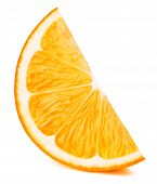 Perfectly Retouched Orange Fruit Slice Isolated On The White Background With Clipping Path. One Of T poster