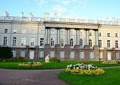 picture of tsarskoe  - Flower bed in front of the palace in Tsarskoe Selo - JPG