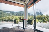 Living Room Or Restaurant Interior Design poster