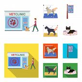 Visiting A Vet Clinic, A Signboard Of A Stylish Salon For A Pet, A Haircut Of Dogs. Vet Clinic And P poster