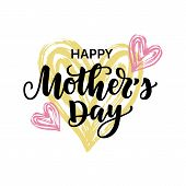 Vector Illustration, Happy Mothers Day Card poster