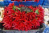 Chilli in A Street Market