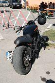 Faaker see, Österreich-10. September: benutzerdefinierte Motorräder sind sehen, european Bike Week auf September