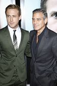 LOS ANGELES - SEPT 27:  Ryan Gosling, George Clooney arriving at  the