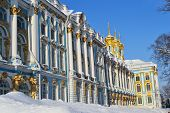 View of the Catherine Palace, winter.