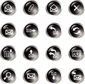 Black Drop E-Mail Icons