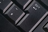 stock photo of tilde  - Close up of black modern keyboard  - JPG