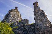 Ruins On Mediaeval Castle In Devin, Former Village Nowdays Part Of Bratislava City In Slovakia poster