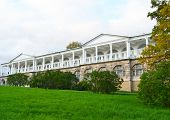 stock photo of tsarskoe  - View of palace in Tsarskoe Selo St Petersburg Russia - JPG