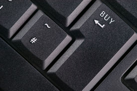 image of keyboard keys  - Close up of black modern keyboard  - JPG