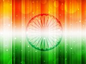 Indian Flag theme background with shiny effect for Independence Day, Republic Day and other occasion