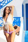 Young woman enjoying the summer