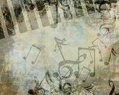 Постер, плакат: Музыкальный фон