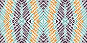 Gloss Repeat Ikat. Gloss Carpet Vector Seamless Pattern. Ethnic Batik Handmade Wallpaper. Dip Aztec  poster