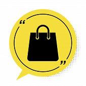 Black Handbag Icon Isolated On White Background. Shoping Bag Sign. Woman Bag Icon. Female Handbag Si poster