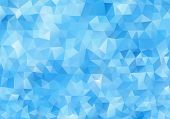Abstract Light Blue Background. Colorful Polygonal Mosaic Pattern Template. Blue Vector Triangle Geo poster