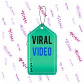 Handwriting Text Viral Video. Concept Meaning The Video That Becomes Popular Through Internet Sharin poster