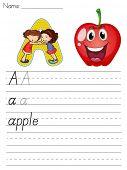 Hoja del alfabeto de la letra A