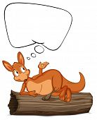 Illustration of a kangaroo thinking - EPS VECTOR format also available in my portfolio.
