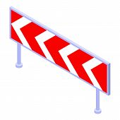 Danger Curve Icon. Isometric Of Danger Curve Vector Icon For Web Design Isolated On White Background poster