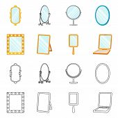 Vector Illustration Of Reflect And Piece Icon. Collection Of Reflect And Furniture Vector Icon For S poster
