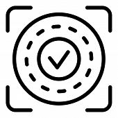 Approved Authentication Icon. Outline Approved Authentication Vector Icon For Web Design Isolated On poster