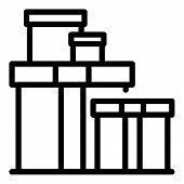Carton Relocation Box Icon. Outline Carton Relocation Box Vector Icon For Web Design Isolated On Whi poster