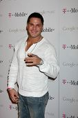 LOS ANGELES - NOV 16:  Ronnie Ortiz-Magro arrives at the Google Music Launch at Mr. Brainwash Studio on November 16, 2011 in Los Angeles, CA