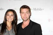 LOS ANGELES - NOV 16:  Emmanuelle Chriqui, Lance Bass arrives at the Google Music Launch at Mr. Brai