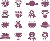 awards icons set, vector