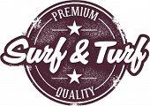 Vintage Style Surf & Turf Dining Stamp