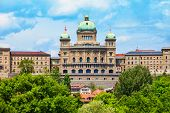 The Federal Palace Or Bundeshaus Is The Building Housing The Swiss Federal Assembly And Council In B poster