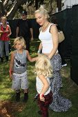 LOS ANGELES, CA - JUN 3: Gwen Stefani, sons Kingston, Zuma at the 23rd Annual 'A Time for Heroes' Celebrity Picnic foe Glaser Pediatric AIDS Foundation on June 3, 2012 in Los Angeles, California