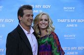 LOS  ANGELES- JUN 4: Allen Covert, wife Kathryn at the premiere of Columbia Pictures' 'That's My Boy' at the Regency Village Theater on June 4, 2012 in Los Angeles, California