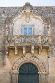 Palácio de pino. Martano. Puglia. Itália.