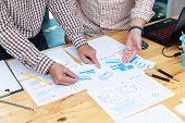 Graphic Designers Work Together With Ux Ui Designer Planning Application Template Layout Framework F poster