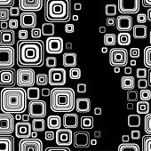 Seamless black-and-white retro pattern