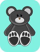 Cute Black Bear poster