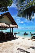 Café en la playa, don, Koh Phi Phi en Tailandia