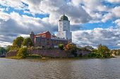 Beautiful View Of The Vyborg Castle In Sunlight In Hdr Processing, Vyborg, Leningrad Oblast, Russia poster