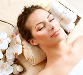 image of mud  - Spa Woman in Beauty Salon - JPG