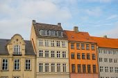 Copenhagen, Denmark: Beautiful Buildings In The Center Of The Old Town The Capital Of Denmark, Copen poster