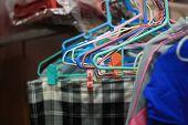 Clothes Hanger For Hang Coat, Shirt, Pants, Trousers Etc. Coat Hanger  Or Clothes Hanger Help For Or poster