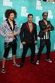 LOS ANGELES - JUN 3:  Red Foo; Sky Blu; Goonroc arriving at the 2012 MTV Movie Awards at Gibson Ampi