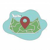 Air Travel Icon. Travel Logo. Pin Logo. Location On Map Logo Concept. Plane Icon. Plane Logo. Plane  poster
