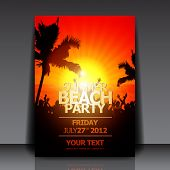 Verão Beach Party Flyer - Vector Design
